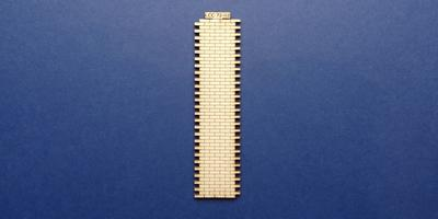LCC 72-02 O gauge 4 brick wide station wall extension